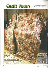 F0490 QUILT TOWN  QUILT PATTERN/INSTRUCTIONS