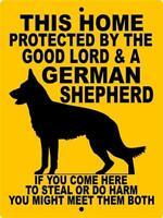 1732 GERMAN SHEPHERD DOG SIGN,9 X 12 ALUMINUM SIGN,SECURITY,WARNING,