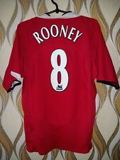 2004-06 Manchester United Home Shirt Rooney #8 Football Soccer Jersey