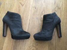 Prada Calf Hair Ankle Booties Short High Heel Boots $1250 Sz 39.5 US 9.5 UK 6.5