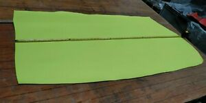 Lime Yellow PU Coated Butt Split Leather Panel 0.9mm Thickness LOT 2041