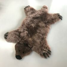 Brown Country Bear Sheepskin Rug, Sheepskin Area Rug, Shag Rug