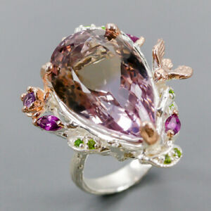 Ametrine Ring Silver 925 Sterling Handmade SET25ct+ Size 7 /R148783