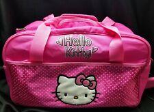 Hello Kitty Overnight Duffel Bag, Many Pockets Adj Shoulder Strap &  Handles EUC