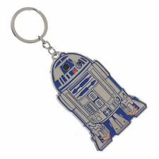 OFFICIAL STAR WARS R2-D2 METAL CUT OUT SHINY GREY KEYRING *BRAND NEW*