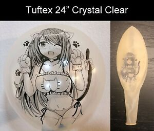 """[AX-09] Cute Anime Girl Printed Looner Balloons in Tuftex 17"""" / 24"""" Multi-color"""
