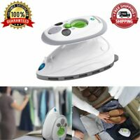 Non-Stick Travel Mini Steam Iron Compact And Lightweight Removes Wrinkles Germs