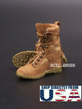 "1/6 Women Soldier Assault Combat Boots SAND For 12"" Female Figure U.S.A. SELLER"