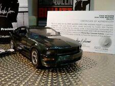 New ListingFranklin Mint 2008 Ford Mustang.1:24.Ultra Rare Bullitt Le.Mint In Box.Docs