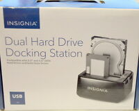 Insignia Dual Hrd Drive Docking Station #NPCHDEDS19