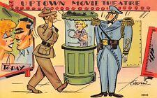(980)  Vintage Military Comic Postcard U.S.M.C.