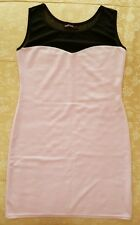 ladies sleeveless bodycon dress with mesh size 14