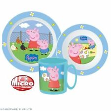CHILDRENS TODDLER PEPPA PIG 3 PC DINNER BREAKFAST SET PLATE BOWL mug