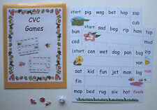 Teacher Made Literacy Center Educational Learning Resource CVC Word Games