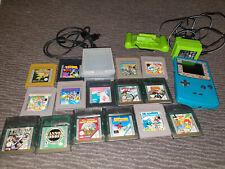 Nintendo Game Boy Color + 15 Spiele + Zubehörpaket (Link-Kabel, Akku, Ladegerät)