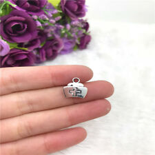6pcs Nurse Cap Charm Tibetan Silver Bead Finding Jewellery Making 13x12mm
