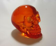 "Clear Acrylic Resin Human Skull Figurine 2"" Choose from 4 colors"