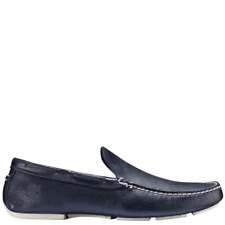 $229 TIMBERLAND Mens BLUE LEATHER SLIP ON LOAFER SHOES TOE CASUAL US SIZE 9