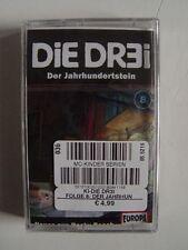 DIE DR3I - 8 Der Jahrhundertstein - MC Kassette EUROPA Die Drei ??? OVP rar