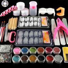 Us Acrylic Nail Kit Acrylic Powder Glitter Nail Art Manicure Tool Tips Brush Set
