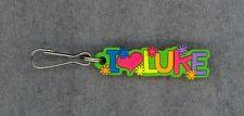 I Love Luke Zipper Pull+Pocketbook Purse Charm+Backpack Clip+Stocking Stuffer
