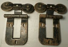 1 Pair Antique Vintage Wooden Barn Door Track Rollers
