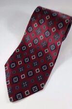 CLUB ROOM 100% SILK Designer Men's Burgundy Blue Necktie NWOT