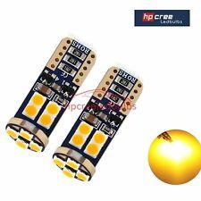 CARS LED UPGRADE T10 501 W5W 3030SMD 12LED CANBUS AMBER INDICATOR LIGHT BULBS