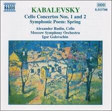 Kabalevsky: Cello Concertos Nos. 1 and 2; Symphonic Poem Spring (CD,...