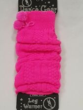 Ladies Pom Pom Thick Cable Knit Leg Warmers Casual Fancy Dress Hen Dance
