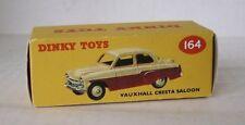 Repro Box Dinky Nr.164 Vauxhall Cresta Saloon grün/beige und rot/beige