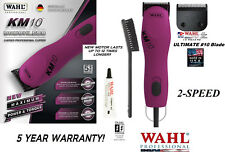 Wahl Pro KM10 PINK 2-Speed ULTIMATE Clipper KIT&10 Blade Set KM*PET DOG GROOMING