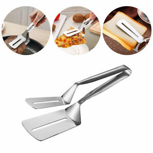 Food Clip Stainless Steel BBQ Tongs Kitchen Utensil Fried Steak Clamp Spatula