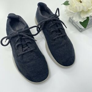 Allbirds Mens 10 Wool Runners Dark Charcoal Gray Lace Up Casual Comfort Shoes