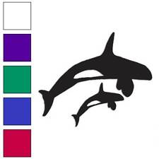 Orca Killer Whales Decal Sticker Choose Color + Size #912