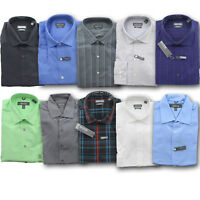 Kenneth Cole Men's Reaction Wrinkle Free Cotton LS Regular Fit Dress Shirt