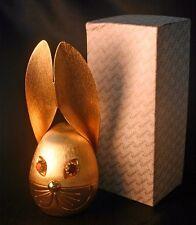 Vintage NAPIER Florentine Finish Rabbits Head Coin Bank NIB