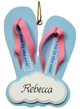 PERSONALIZED FLIP FLOP  BEACH MAGNET ORNAMENT