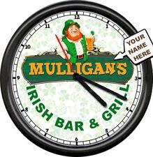 Lucky/'s Irish Pub Beer Bar Clover Sign Wall Clock #430
