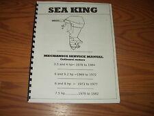 SEA KING-MECHANICS SERVICE MANUAL ~OUTBOARD MOTORS.3.5-4-6-9.2-8-7.5 1969-1984 -