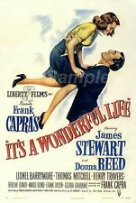 VINTAGE IT'S A WONDERFUL LIFE FRANK CAPRA'S POSTER A4 PRINT