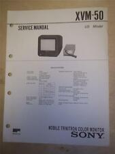 Sony Service Manual~XVM-50 Mobile Trinitron Color Monitor~Original~Repair