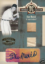 2005 STAN MUSIAL DONRUSS 6/25 THROWBACK COLLECTION JERSEY/BAT/AUTOGRAPH 1/1