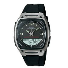 Casio AW-81-1A1V Black Silver-Tone Digital Analog Sports Watch with Retail Box