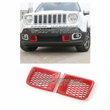Front Bumper Air Inlet Cover Trim with Network Fit for Jeep Renegade 1.4T 15-16