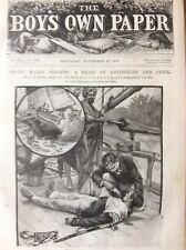 K1m Ephemera 1890s Book Plate Dick Old Chap Among Malay Pirates