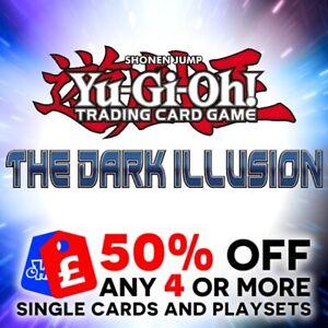 YU GI OH! - THE DARK ILLUSION - TDIL-EN - SINGLE CARDS + PLAYSETS - 1ST ED. NEW