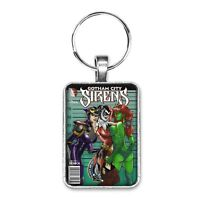 Gotham City Sirens Cover Key Ring or Necklace Harley Quinn Poison Ivy Catwoman