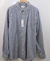 Sonoma Men's Button Down Shirt Size XXL Long Sleeve Blue Plaid Checkered New