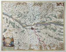 JANSSONIUS KAERIUS TERRITORIUM ARGENTORATENSE STRASBOURG FRANCE FRANKREICH 1638